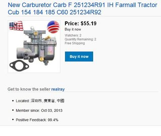 Use caution when buying your Cub parts - Farmall Cub