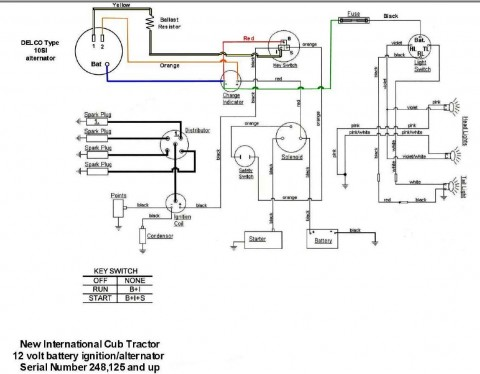 Wiring Diagram for Key Start & 12 Volt Alternator Conversion ... on