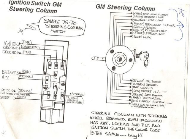help with wiring a gm steering column  please  farmall cub gm steering column wire colors gm steering column wire diagram