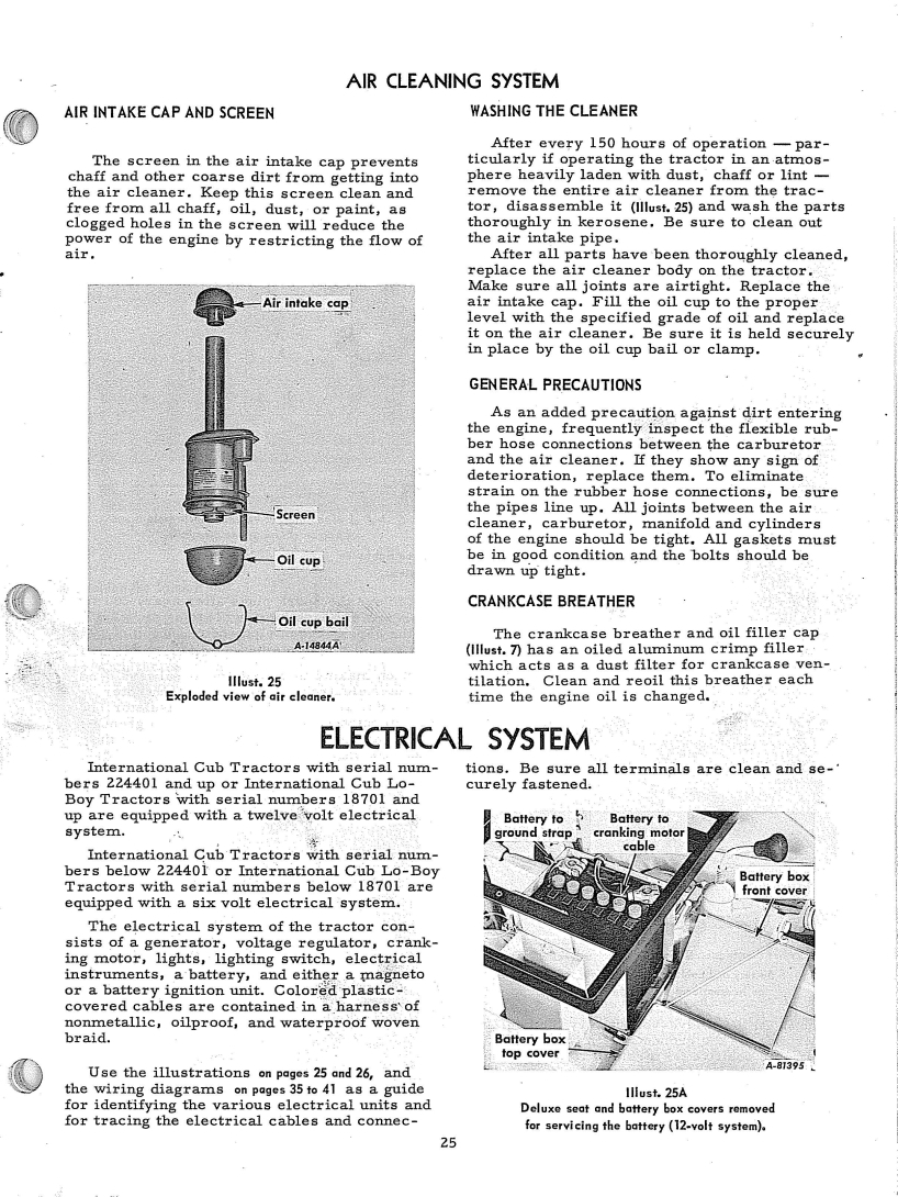 12v Positive Ground Wiring Question Farmall Cub 12 Volt Diagram The Manual Is Made For Many Years Of Cubs Showing 6 And Info If Your A 1973 Use