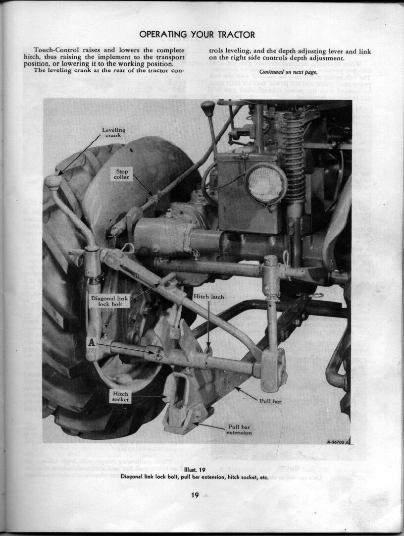 1957 was about the time IH changed from the depth control lever, on the  right side of the Cub, to the crank, which they used up until the end of  making the ...