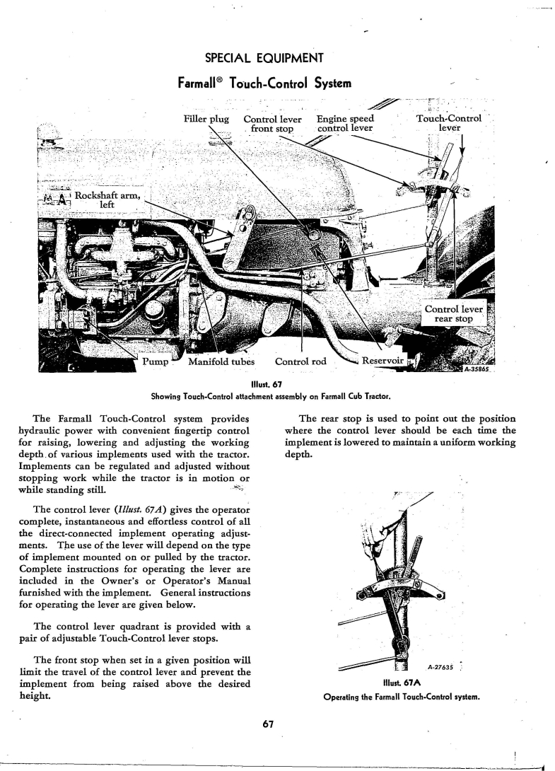 Checking The Touch Control Fluid Farmall Cub 1948 Wiring Diagram Manual Http Rudi Clea Age 65
